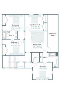 Bergamot Second Floor with Opt 5th Bedroom